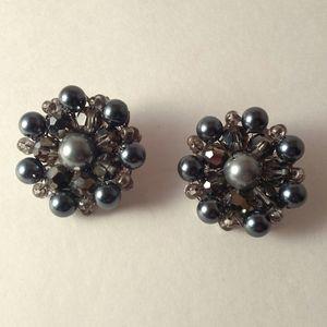 Vintage Marvella Bead Clip On Earrings